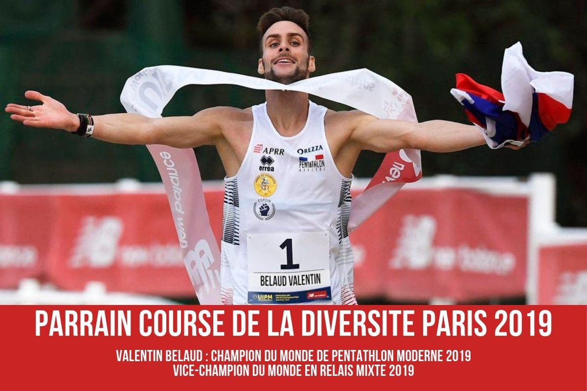 VALENTIN BELAUD, PARRAIN DE LA COURSE DE LA DIVERSITE 2019