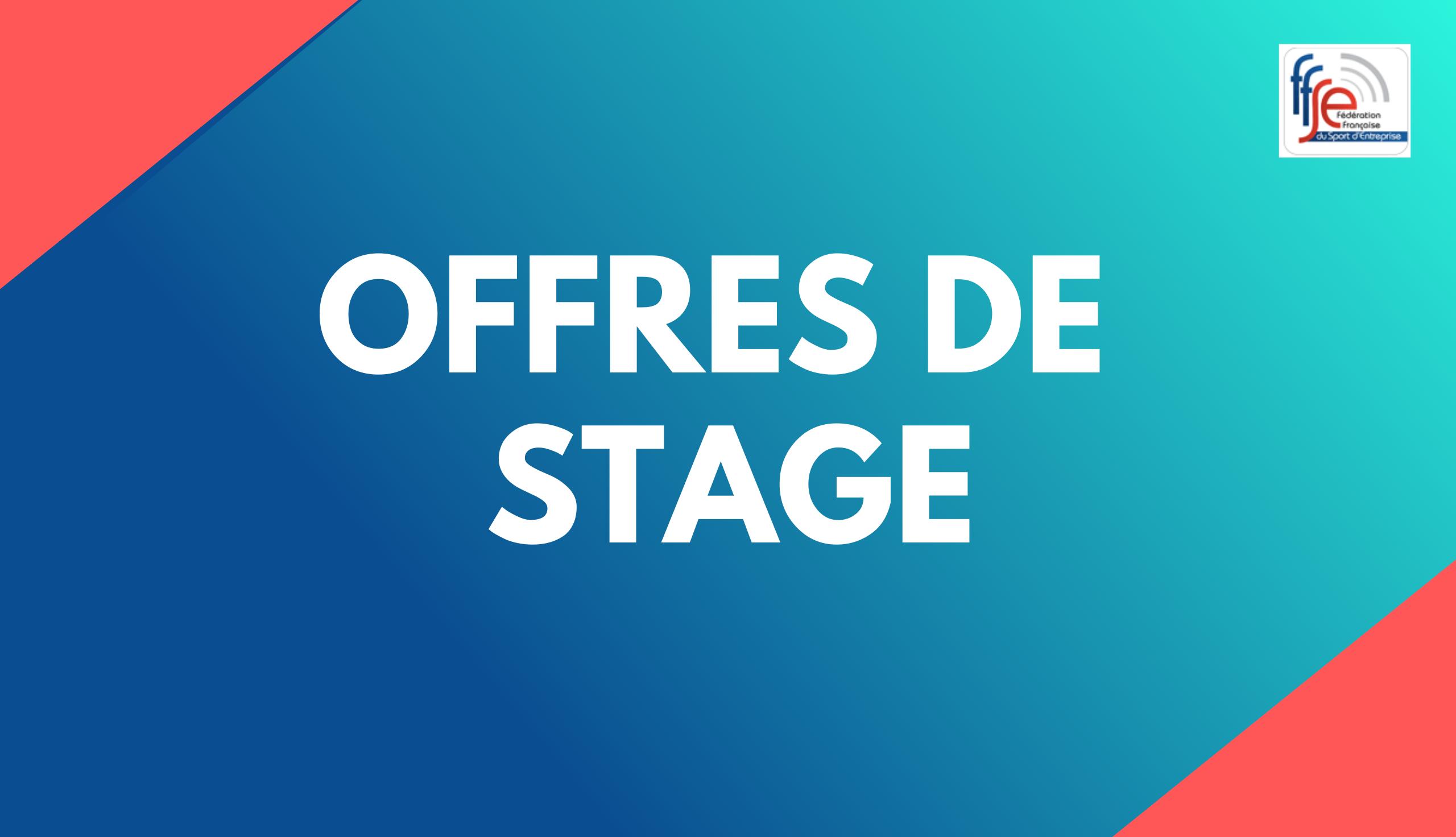 OFFRES DE STAGE FFSE