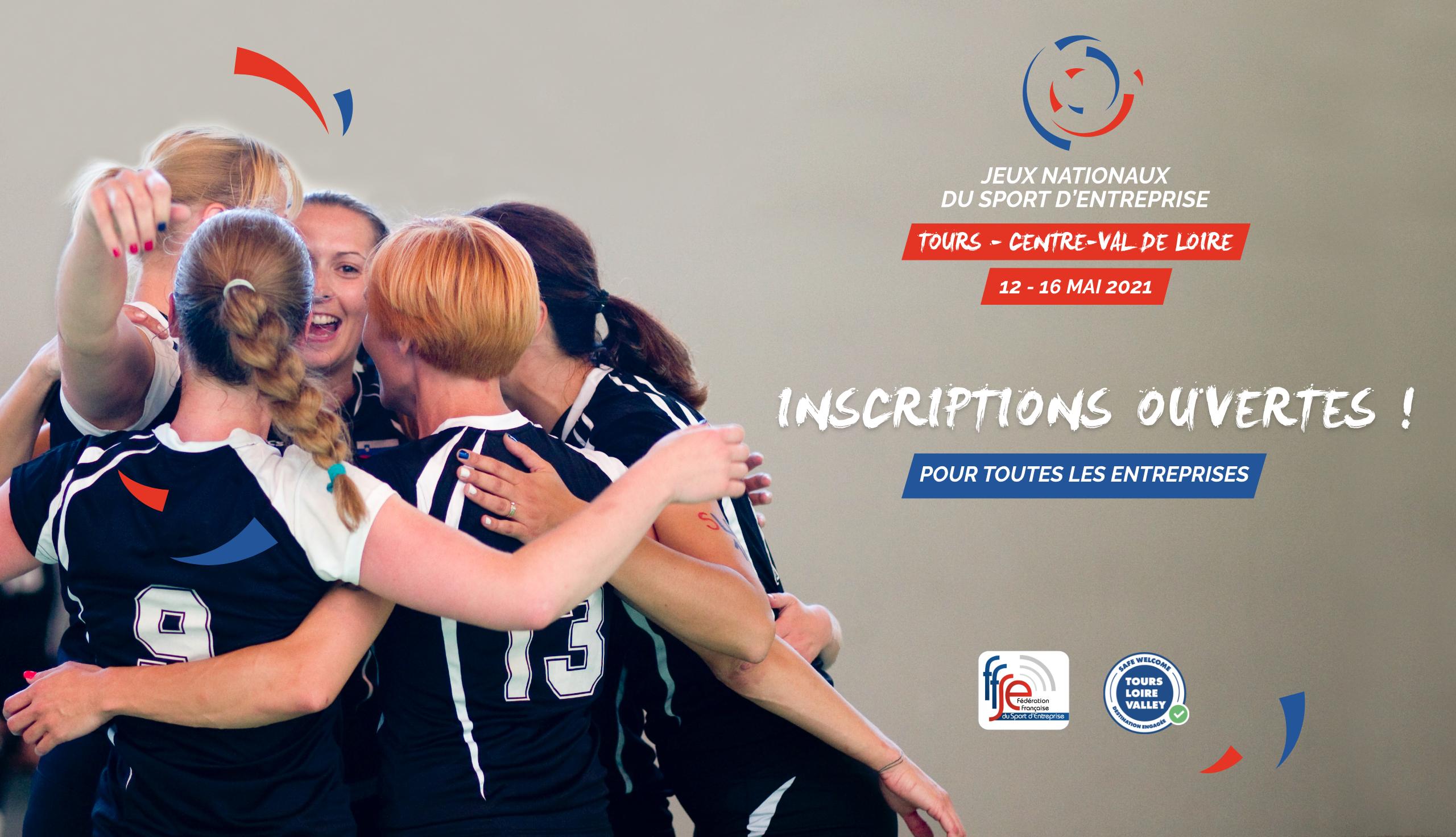 Inscriptions Jeux Nationaux du Sport d'entreprise 2021